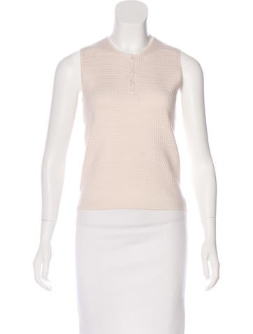 Ralph Rucci Textured Knit Top None
