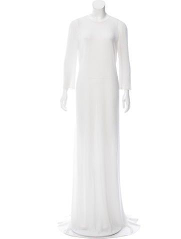Ralph Rucci Beaded Silk Dress None