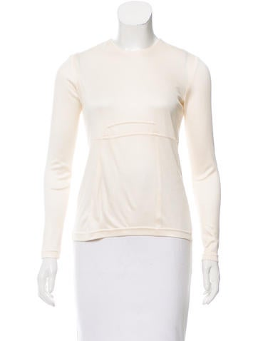 Ralph Rucci Silk Long Sleeve Top None