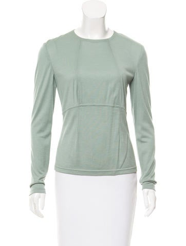 Ralph Rucci Long Sleeve Cashmere Top None
