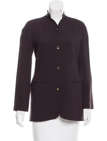 Ralph Rucci Silk Collarless Jacket None