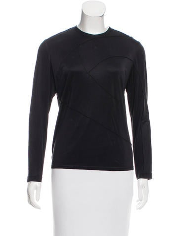 Ralph Rucci Crew Neck Long Sleeve Top None
