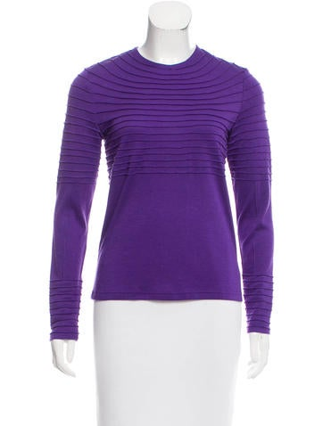 Ralph Rucci Cashmere & Silk-Blend Knit Top w/ Tags None
