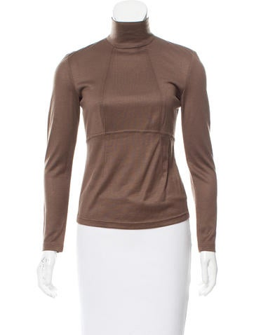 Ralph Rucci Cashmere Long Sleeve Top None