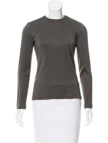 Ralph Rucci Long Sleeve Silk Top None