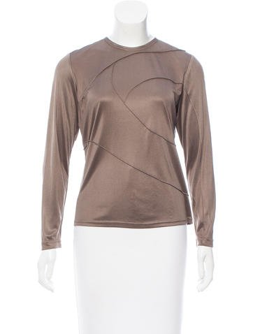 Ralph Rucci Long Sleeve Zip-Up Top None