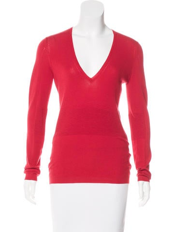 Ralph Rucci Long Sleeve Cashmere Sweater None