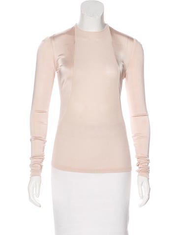 Ralph Rucci Long Sleeve Crew Neck Top None