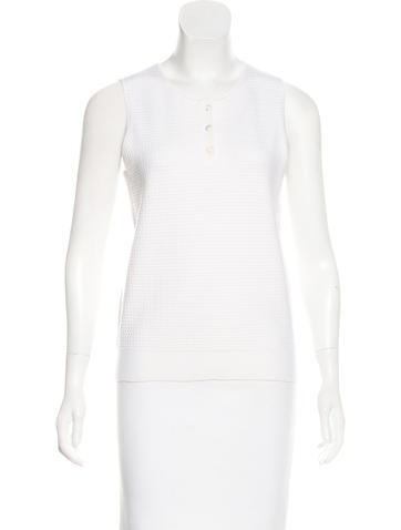 Ralph Rucci Sleeveless Wool-Blend Top w/ Tags None