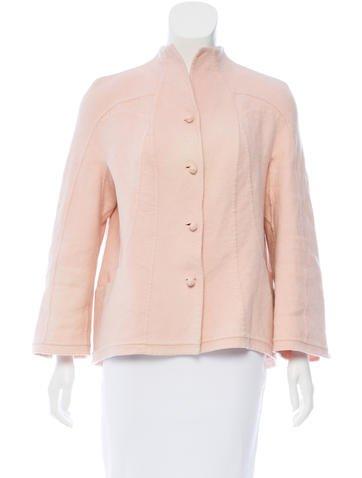 Ralph Rucci Cashmere Button-Up Jacket None