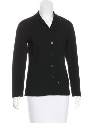 Ralph Rucci Button-Up Silk Jacket None