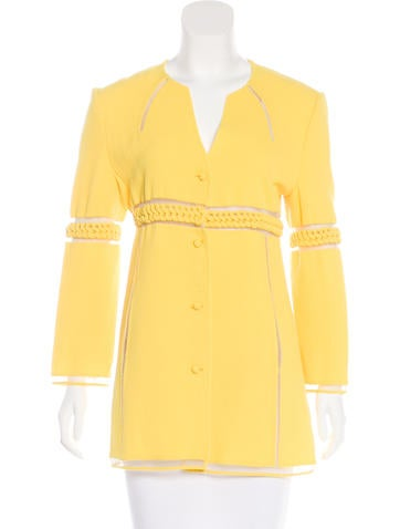 Ralph Rucci Mesh-Trimmed Wool Jacket None