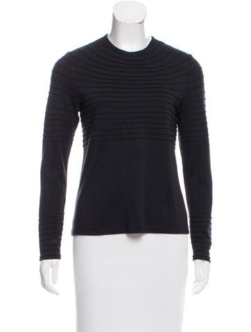 Ralph Rucci Cashmere & Silk-Blend Knit Top None
