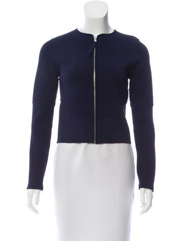 Ralph Rucci Knit Long Sleeve Jacket None