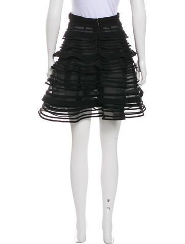 Flared Mesh Skirt