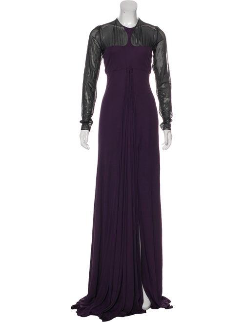 Ralph Rucci Long Sleeve Evening Dress w/ Tags blac