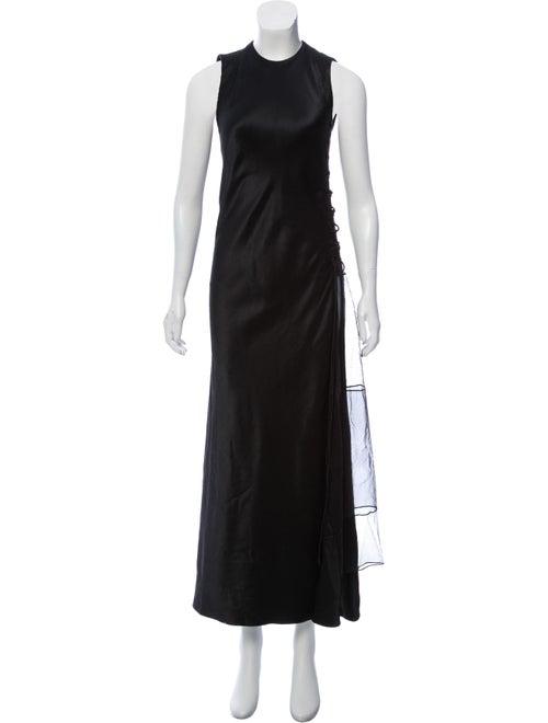 Ralph Rucci Sleeveless Lace-Up Dress Black