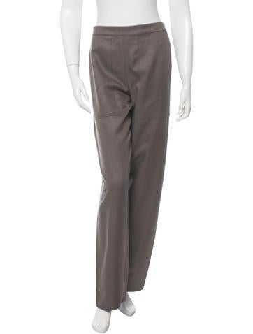 Lemaire Silk High-Waisted Trousers w/ Tags None