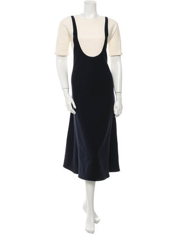 Lemaire Wool Trompe L'oeil Dress w/ Tags None