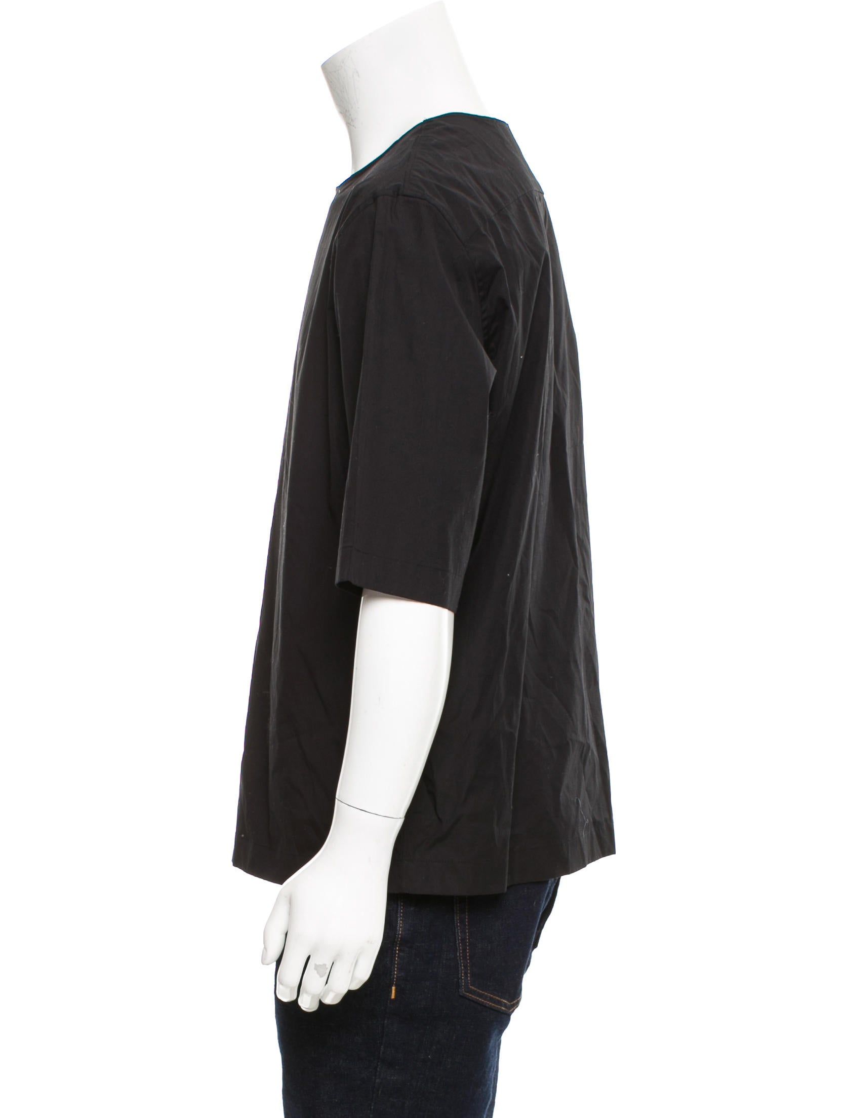 Lemaire woven crew neck t shirt w tags clothing Woven t shirt tags