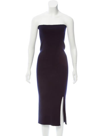 Lemaire Wool Rib Knit Dress None