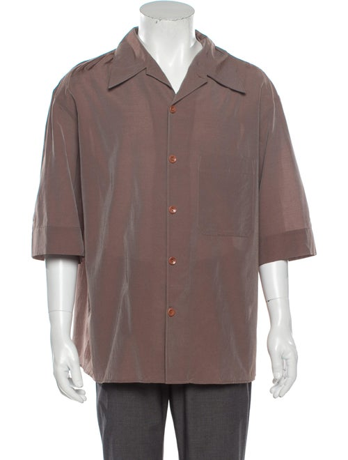 Lemaire Short Sleeve Shirt Brown