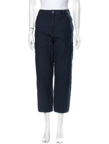Lemaire High-Rise Straight Leg Jeans