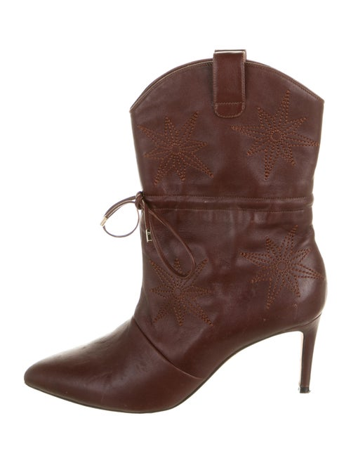 Chloé Gosselin Leather Embroidered Accent Western