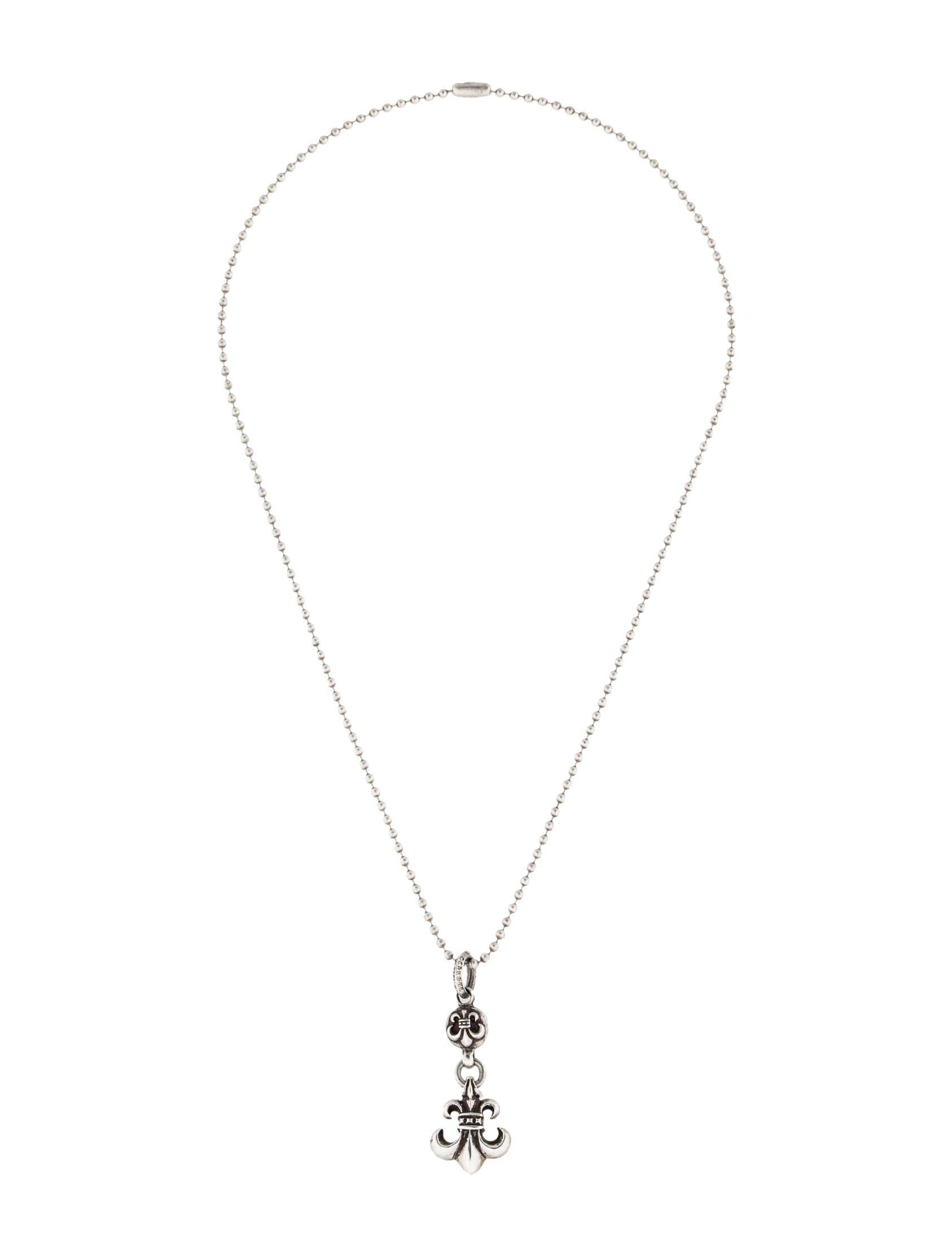 Chrome hearts fleur de lis pendant necklace necklaces chh20513 fleur de lis pendant necklace aloadofball Choice Image