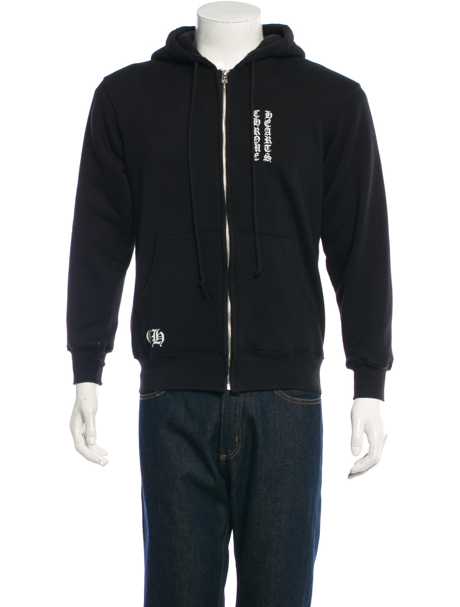 2ceae578696 Chrome Hearts Zip-Up Hoodie - Clothing - CHH20732