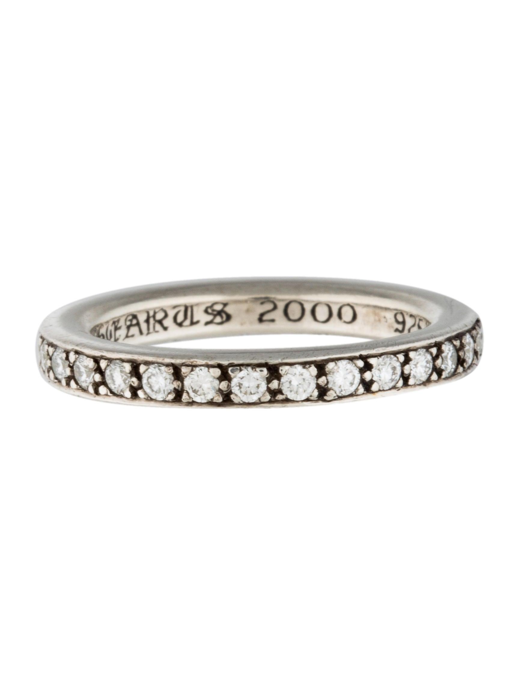 f01b25225335 Chrome Hearts Diamond TFL Eternity Band - Rings - CHH21089