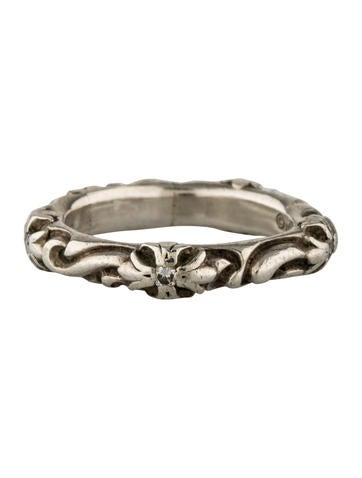 Etched Diamond Band