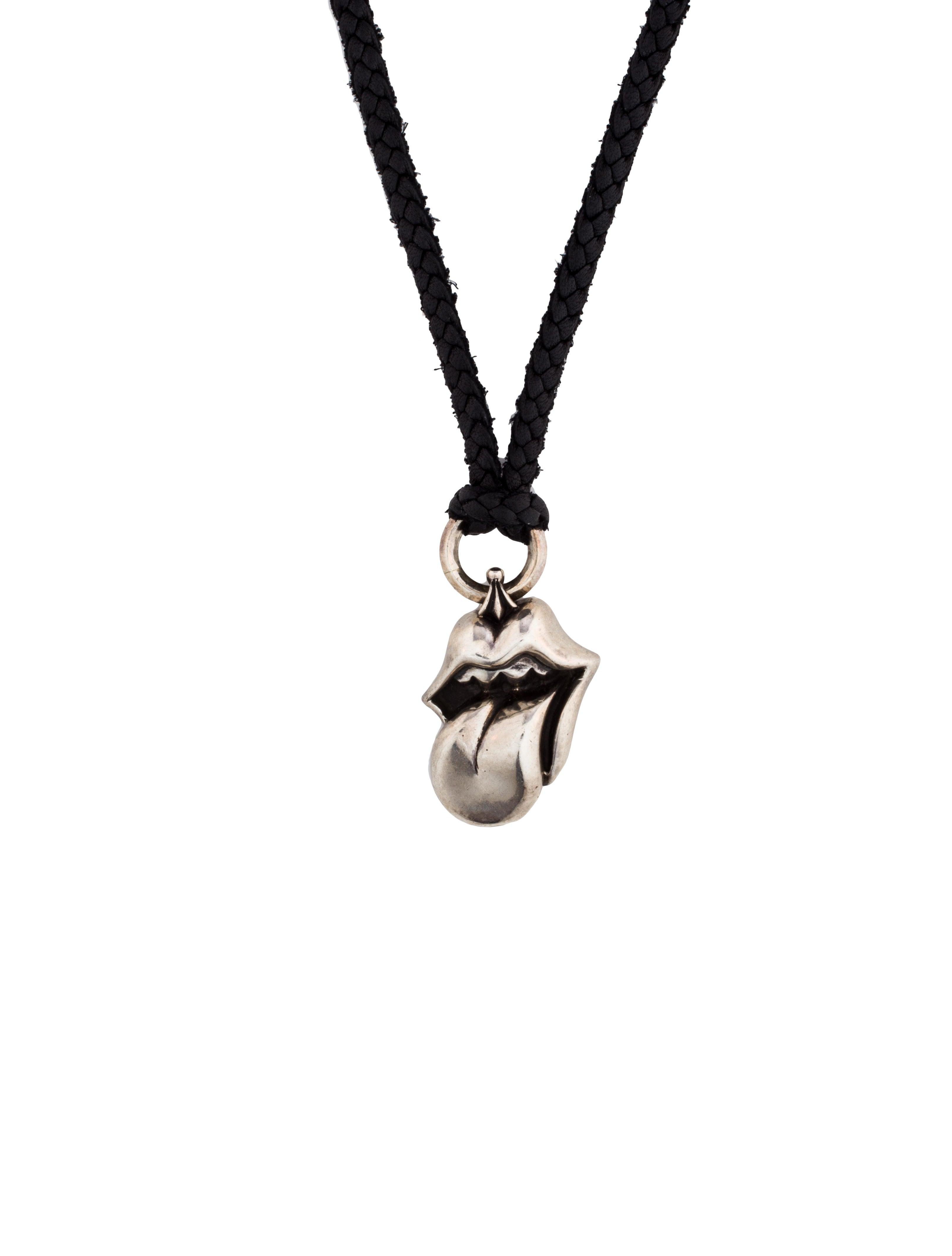 5909227ff917 Chrome Hearts Tongue   Lips Pendant Necklace - Necklaces - CHH21276 ...