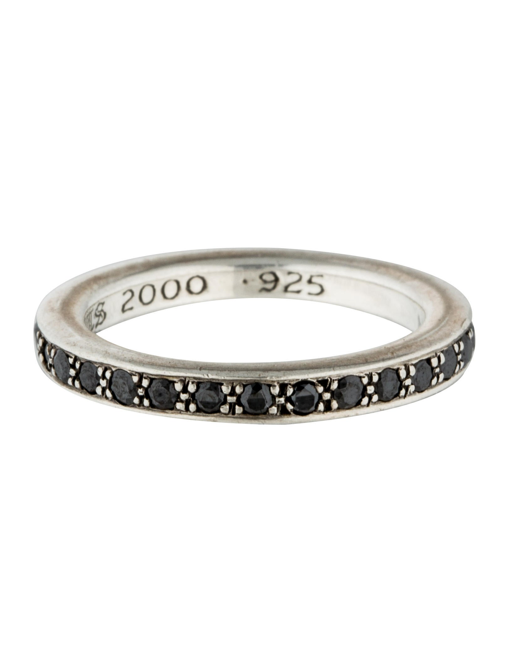 Chrome Hearts Black Diamond Eternity Ring Rings CHH