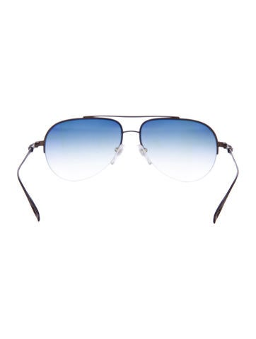 acc1a2d6656b Chrome Hearts Stains Shiny Silver Aviator Sunglasses