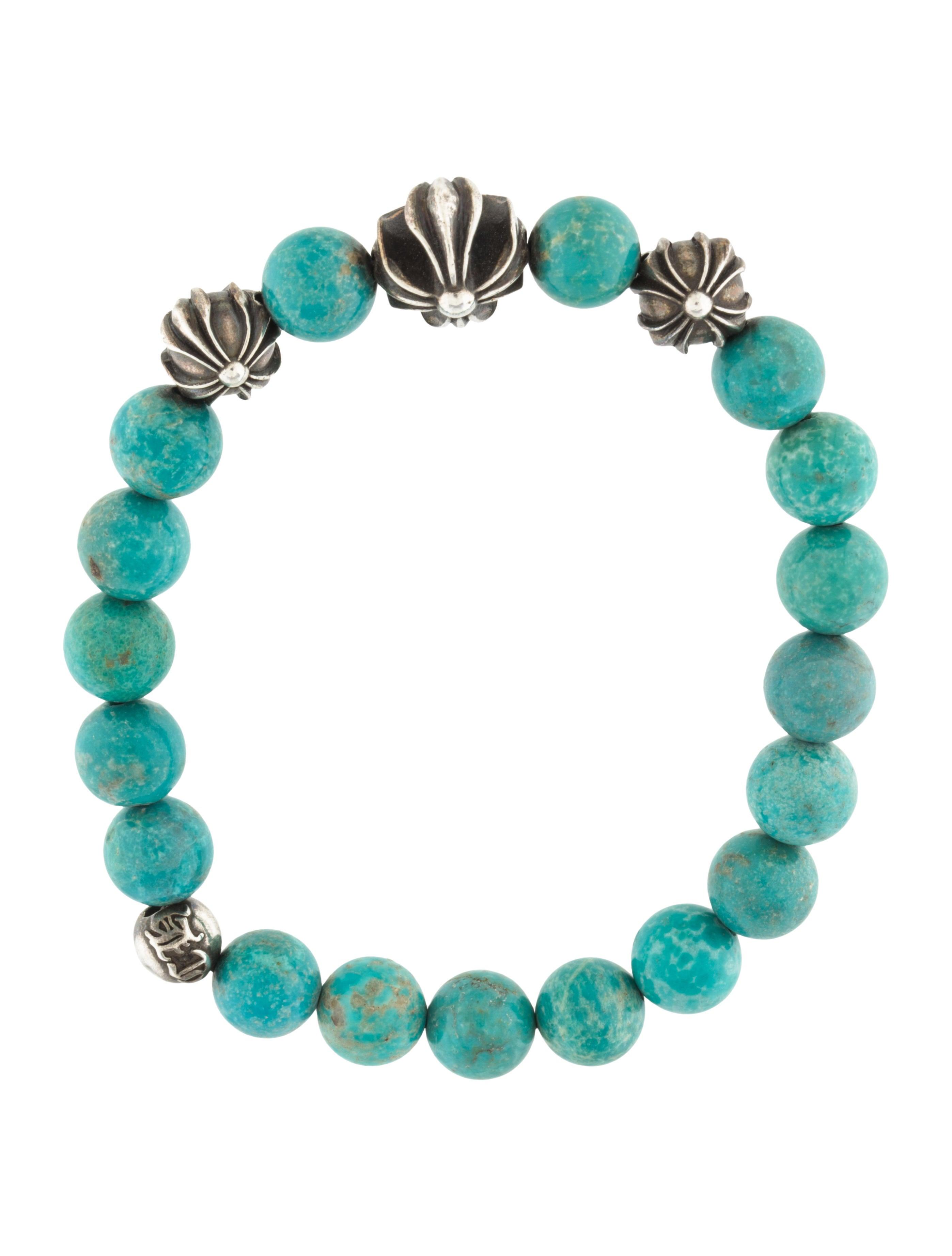 chrome hearts turquoise bead bracelet bracelets