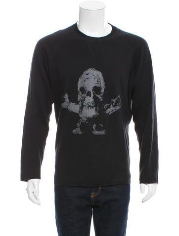 Chrome Hearts Rib Knit Skull Pattern Sweater None