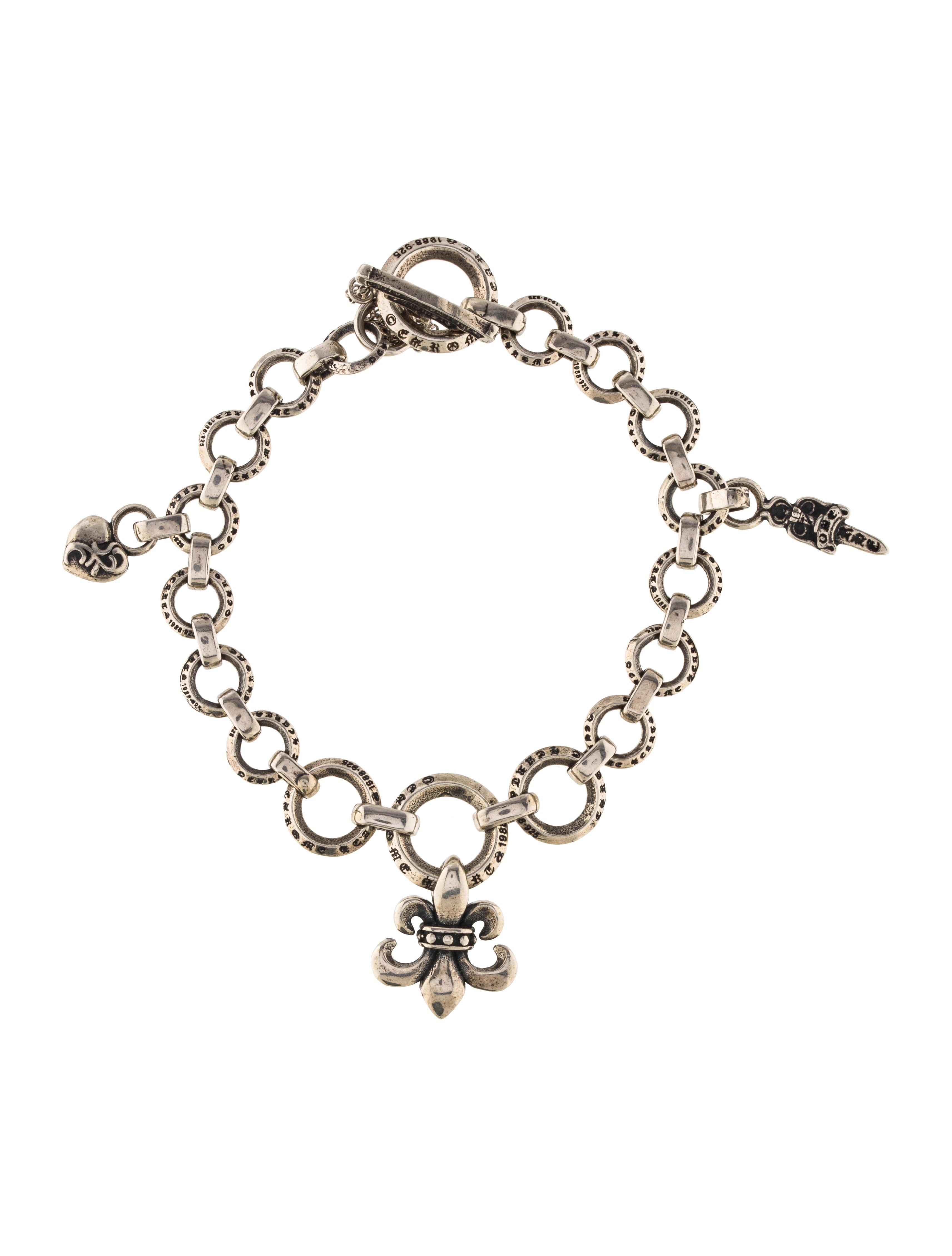 chrome hearts charm link bracelet bracelets chh22560