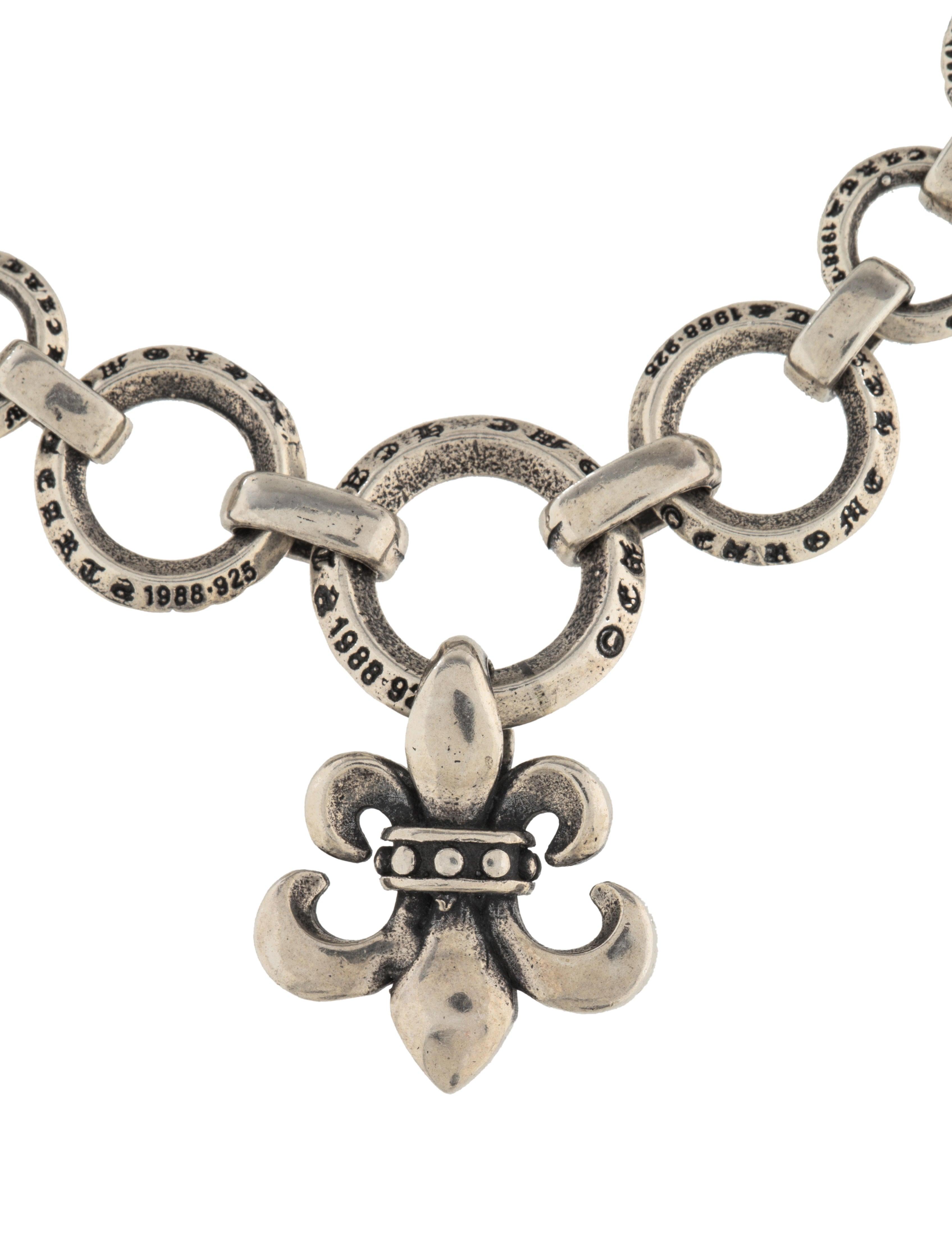 chrome hearts charm link bracelet bracelets chh22561