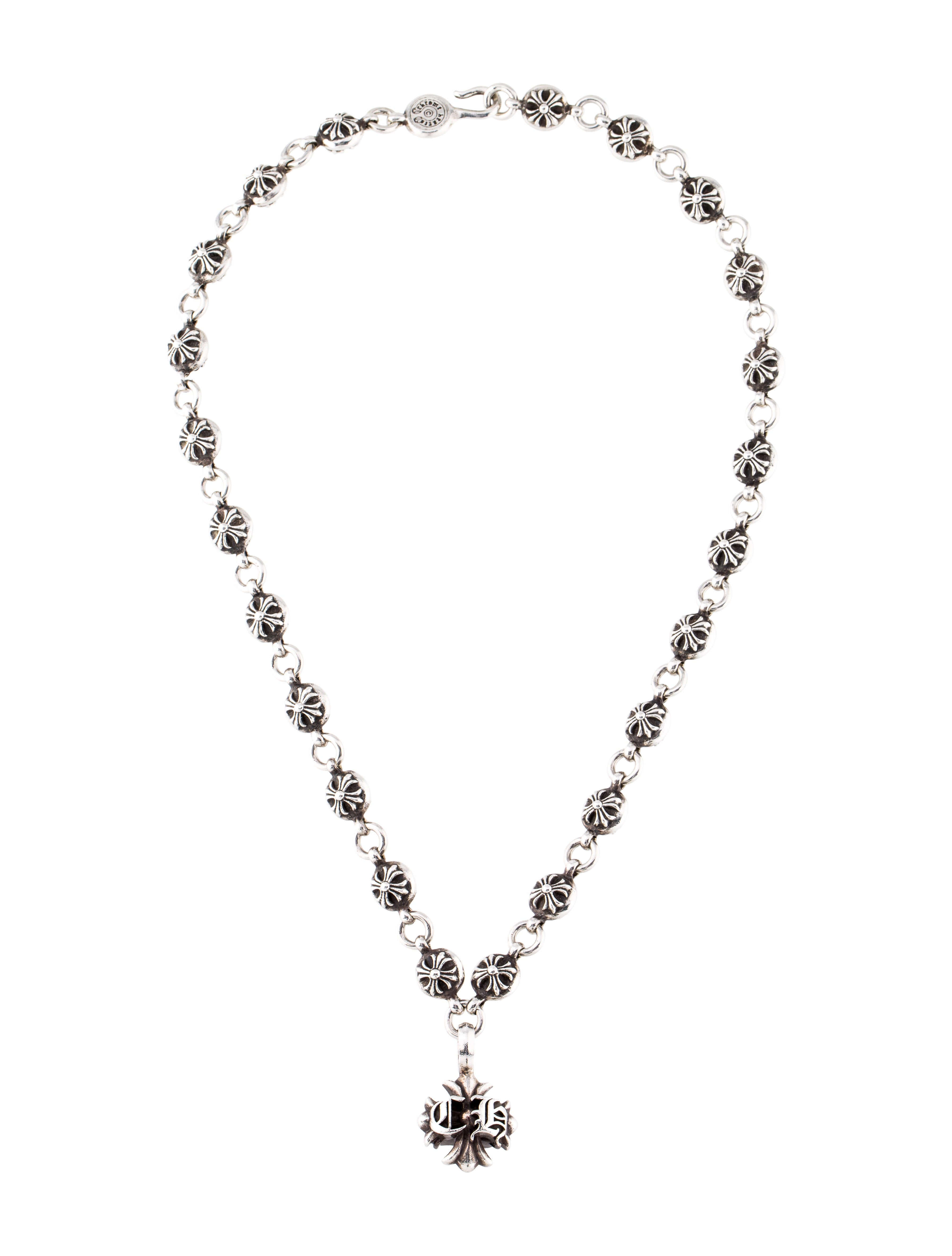 a4930ccdd345 Chrome Hearts CH Cross  1 Cross Ball Necklace - Necklaces - CHH23621 ...