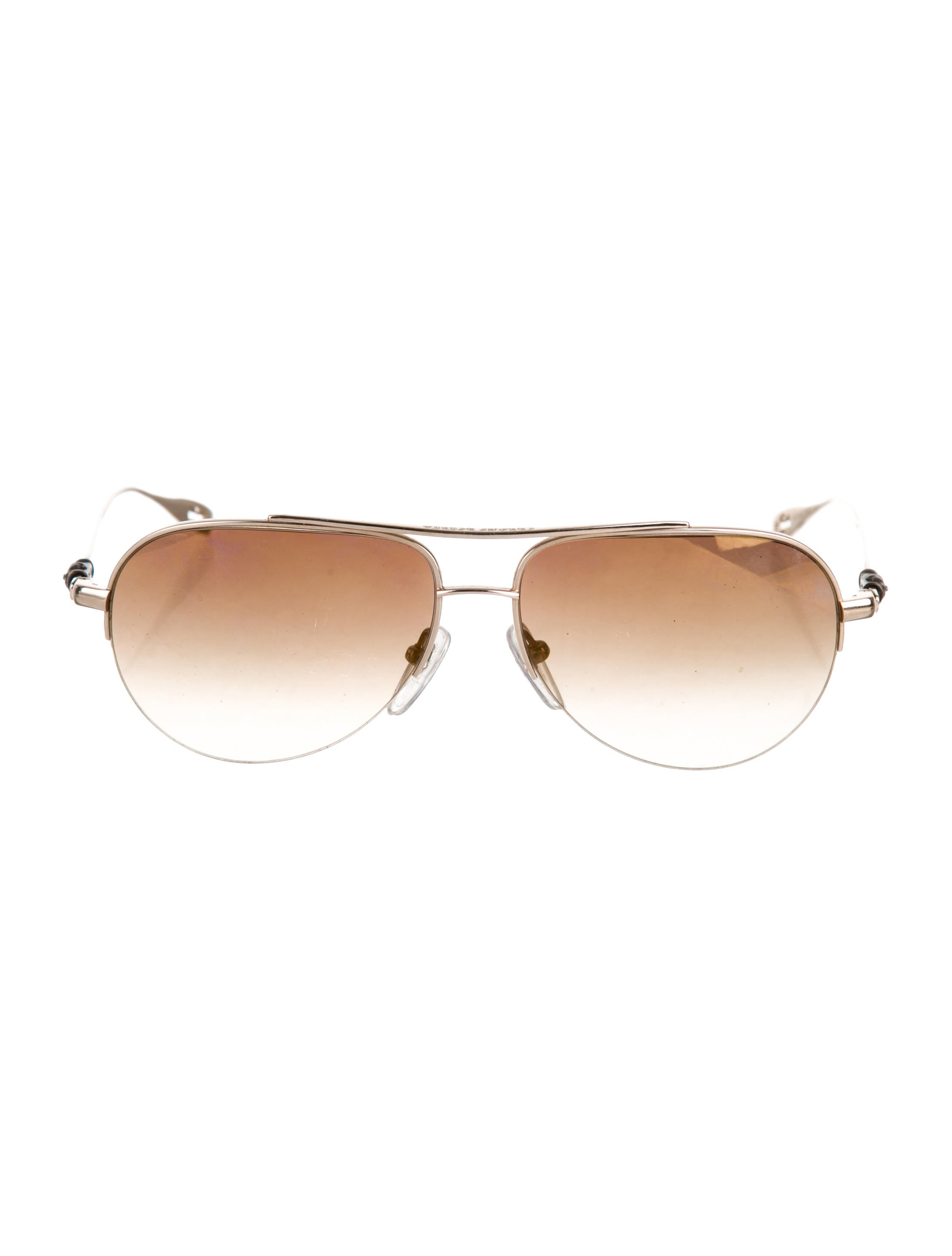 269b652b6543b Chrome Hearts Stains Aviator Sunglasses - Accessories - CHH24211 ...