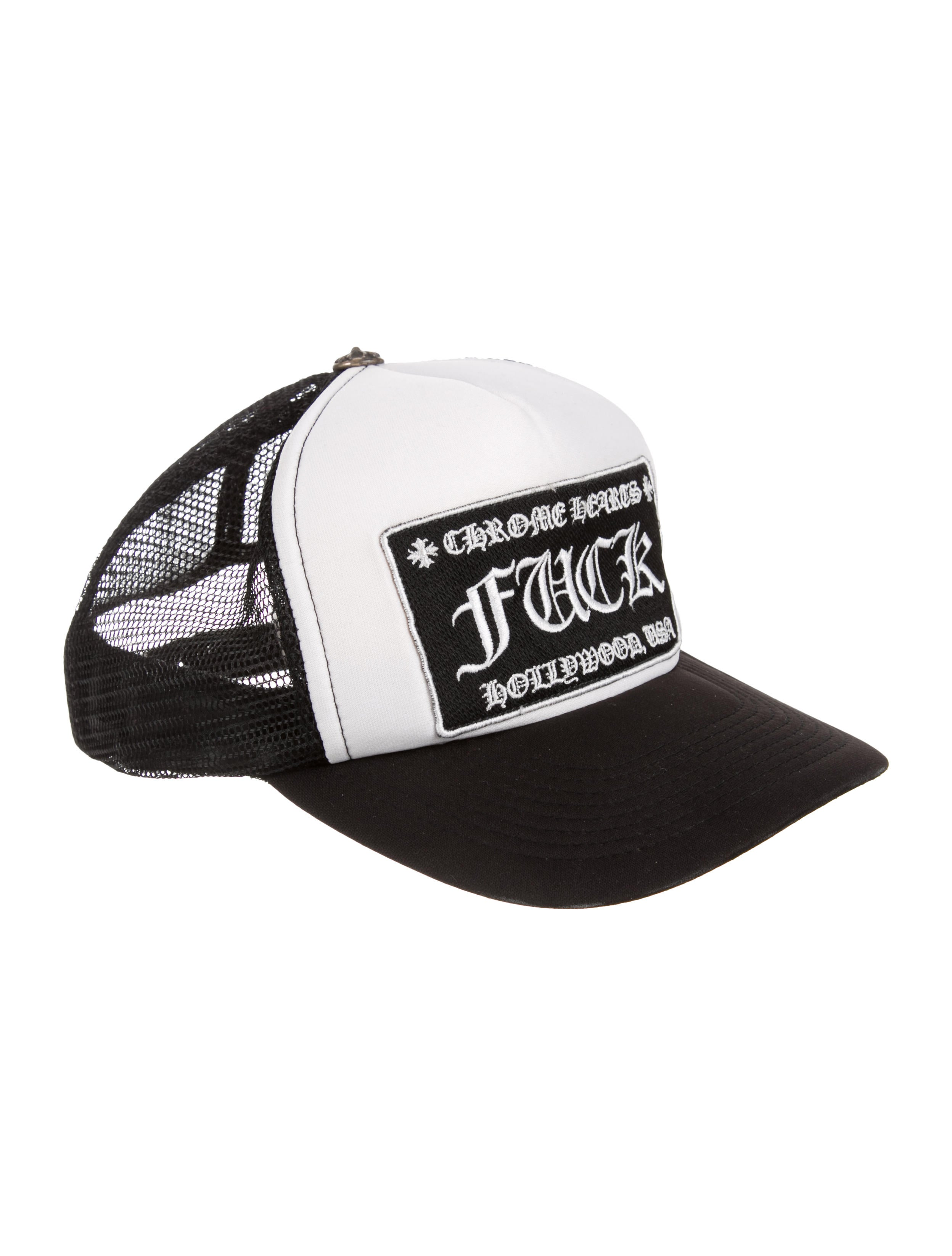 0eff1b8585de5 Chrome Hearts Expletive Logo Snap Back Trucker Hat - Accessories ...
