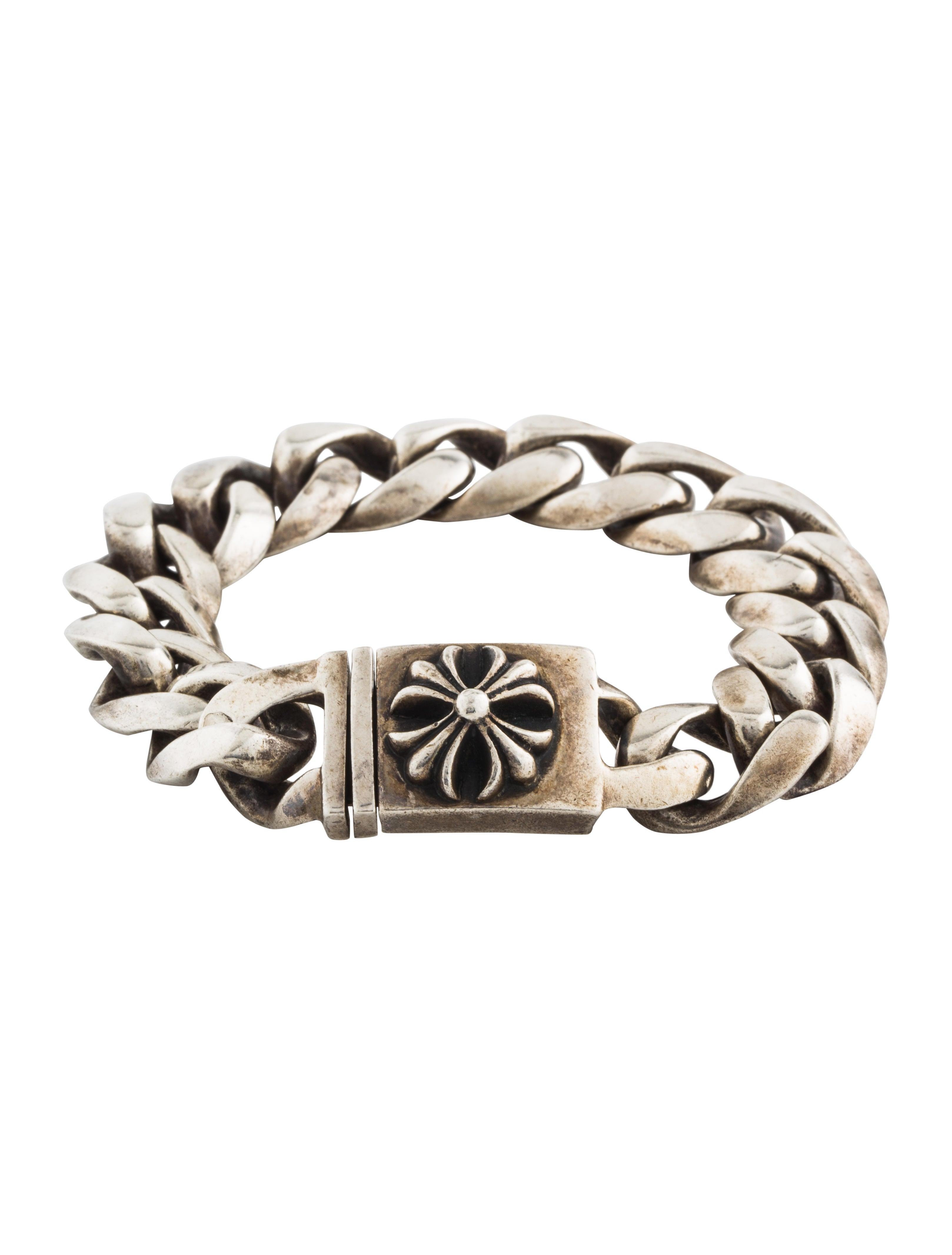 b6aa912854dc Chrome Hearts Cross ID Chain Bracelet - Bracelets - CHH24623