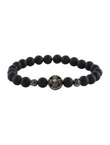 aeadd6a9c28b Chrome Hearts. Onyx Bead Bracelet