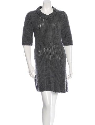 Christopher Kane Short Sleeve Knit Dress None
