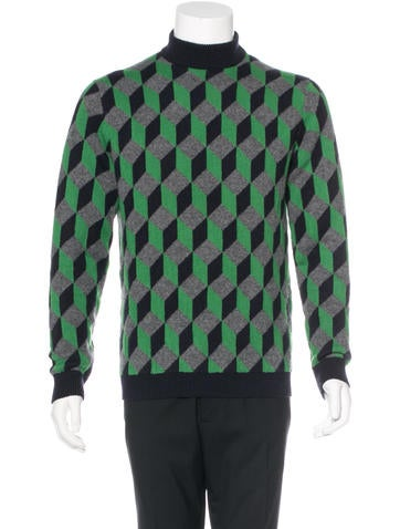 Christopher Kane Mock Neck Wool Sweater w/ Tags None