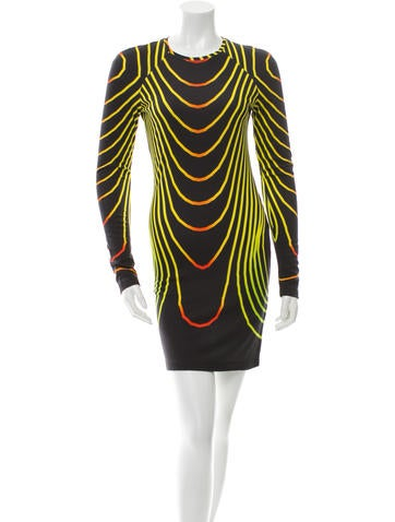 Christopher Kane Printed Jersey Knit Dress w/ Tags None