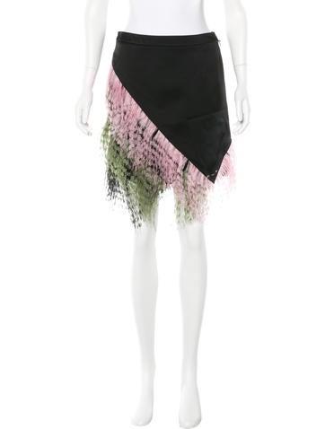 Bottega Veneta Velvet Ruffle-Trimmed Dress w/ Tags ...