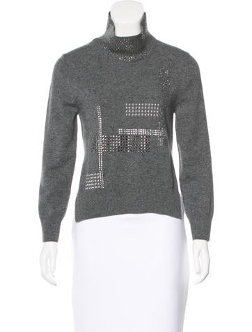Christopher Kane Swarovski-Accented Wool Sweater w/ Tags None