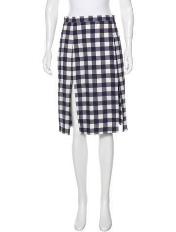 Christopher Kane Gingham Knee-Length Skirt